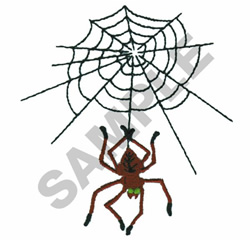 SPIDER AND WEB embroidery design