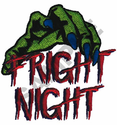 FRIGHT NIGHT embroidery design
