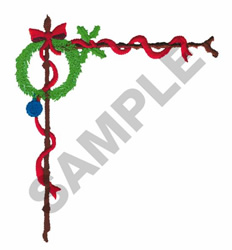 WREATH AND RIBBON BORDER embroidery design