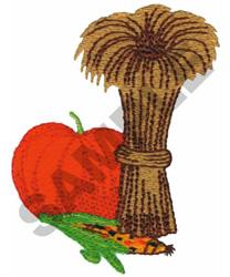 PUMPKIN AND GRAIN embroidery design