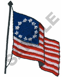 COLONIAL FLAG embroidery design