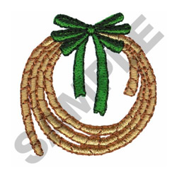 ROPE CHRISTMAS WREATH embroidery design