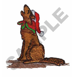CHRISTMAS COYOTE embroidery design