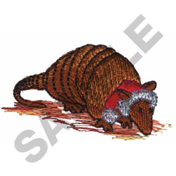 CHRISTMAS ARMADILLO embroidery design