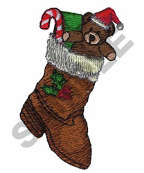 BOOT CHRISTMAS STOCKING embroidery design