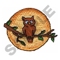 OWL IN MOON embroidery design