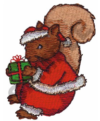CHRISTMAS SQUIRREL embroidery design