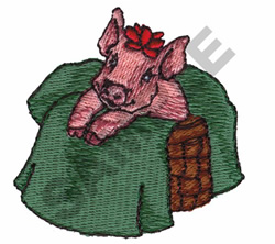 CHRISTMAS PIG embroidery design