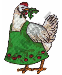 CHRISTMAS CHICKEN embroidery design