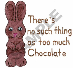 CHOCOLATE EASTER BUNNY embroidery design