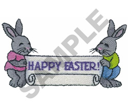 HAPPY EASTER! BUNNIES embroidery design