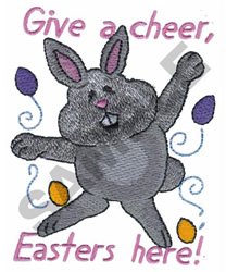 GIVE A CHEER, EASTERS HERE! embroidery design