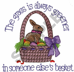 THE GRASS IS ALWAYS GREENER... embroidery design