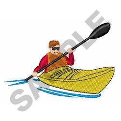 KAYAKER embroidery design