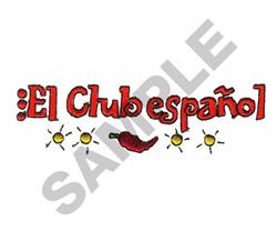 EL CLUB ESPANOL embroidery design