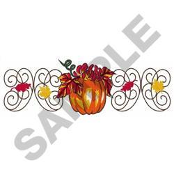 FALL DECOR BORDER embroidery design