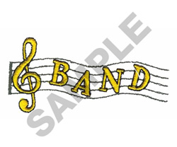 BAND embroidery design