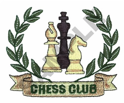 CHESS CLUB embroidery design