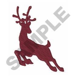 REINDEER SILHOUETTE embroidery design