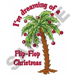 FLIP FLOP CHRISTMAS embroidery design
