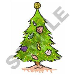 TROPICAL CHRISTMAS TREE embroidery design