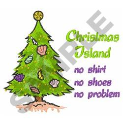 CHRISTMAS TREE ISLAND embroidery design
