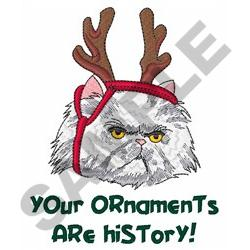 ORNAMENTS ARE HISTORY embroidery design