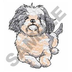SHIH TZU PUP embroidery design