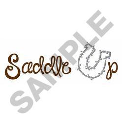HORSESHOE SADDLE UP embroidery design