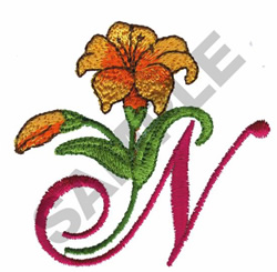 FLORAL N embroidery design