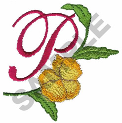 FLORAL P embroidery design