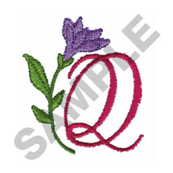 FLORAL Q embroidery design