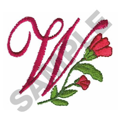 FLORAL W embroidery design