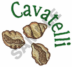 CAVATELLI embroidery design