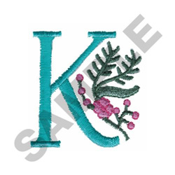 FLOWER LETTER  K embroidery design