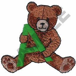 TEDDY BEAR A embroidery design