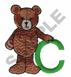 TEDDY BEAR C embroidery design
