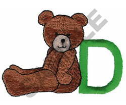 TEDDY BEAR D embroidery design