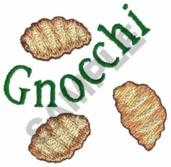 GNOCCHI embroidery design