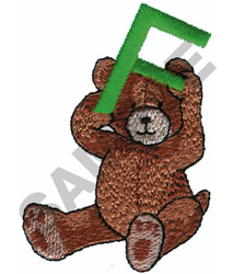 TEDDY BEAR F embroidery design