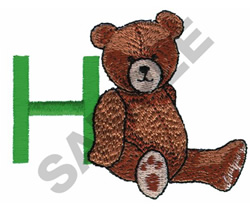 TEDDY BEAR H embroidery design