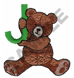 TEDDY BEAR J embroidery design