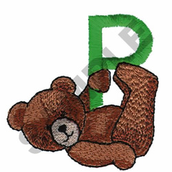 TEDDY BEAR P embroidery design