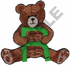 TEDDY BEAR R embroidery design