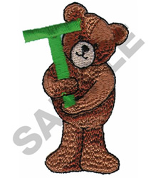 TEDDY BEAR T embroidery design