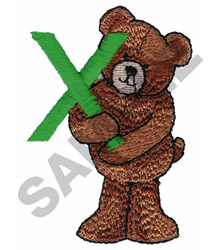 TEDDY BEAR X embroidery design