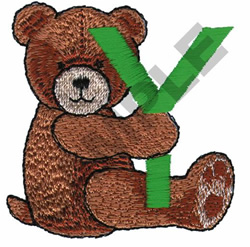 TEDDY BEAR Y embroidery design