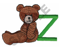 TEDDY  BEAR Z embroidery design