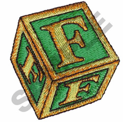 TOY BLOCKS F embroidery design