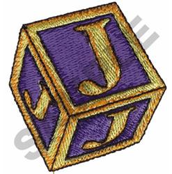 TOY BLOCKS J embroidery design